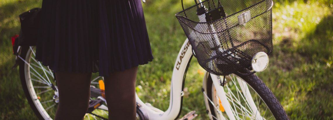 A photograph of a girl with an electric bike | Smarter Travel Limited