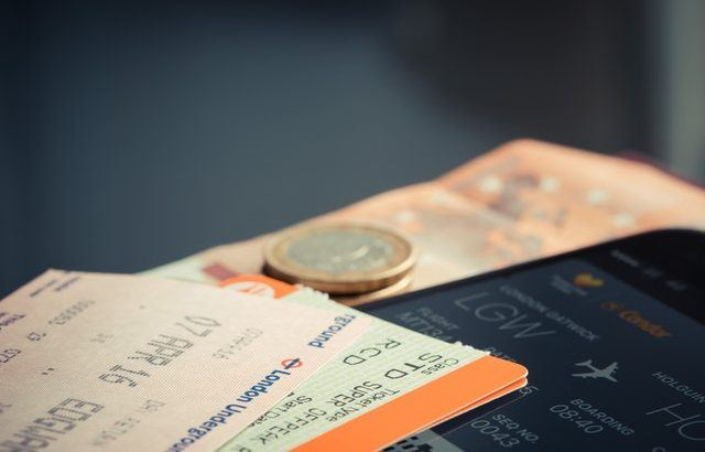 A photograph of rail tickets