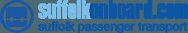Suffolk on Board logo in light blue and dark blue