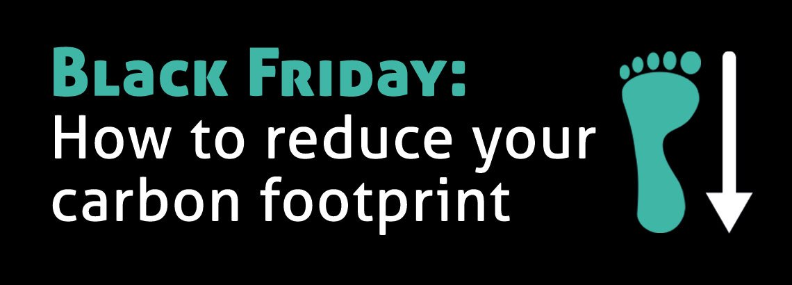 Black Friday image to show a footprint and a down arrow
